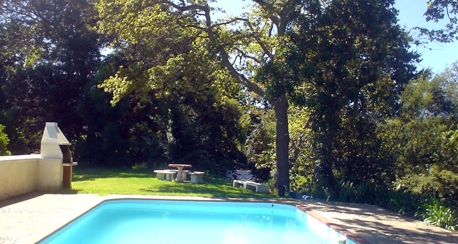 Happy Valley Swimming Pool Accommodation in Franschhoek www.happyvalley.co.za